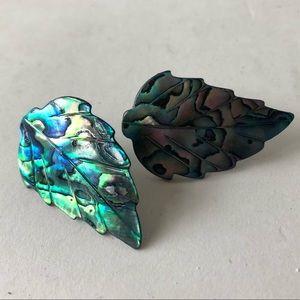 Abalone shell post earrings